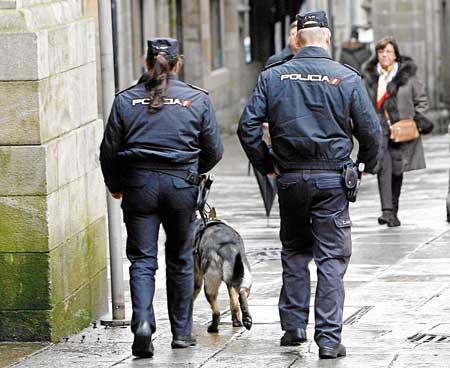 "alt=""Policia Nacional-Catedral Santiago"""