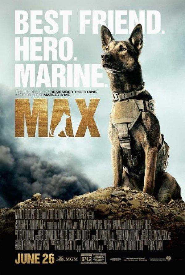 """'Max"""" pelicula perro marine"""