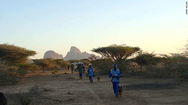 minas en Sudán