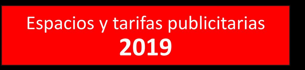 Tarifas PdB 2019