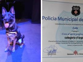 Lola, medalla al Mérito Policial