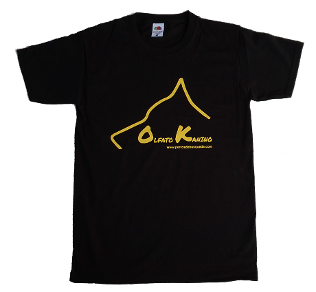 Camiseta negra Olfato Kanino